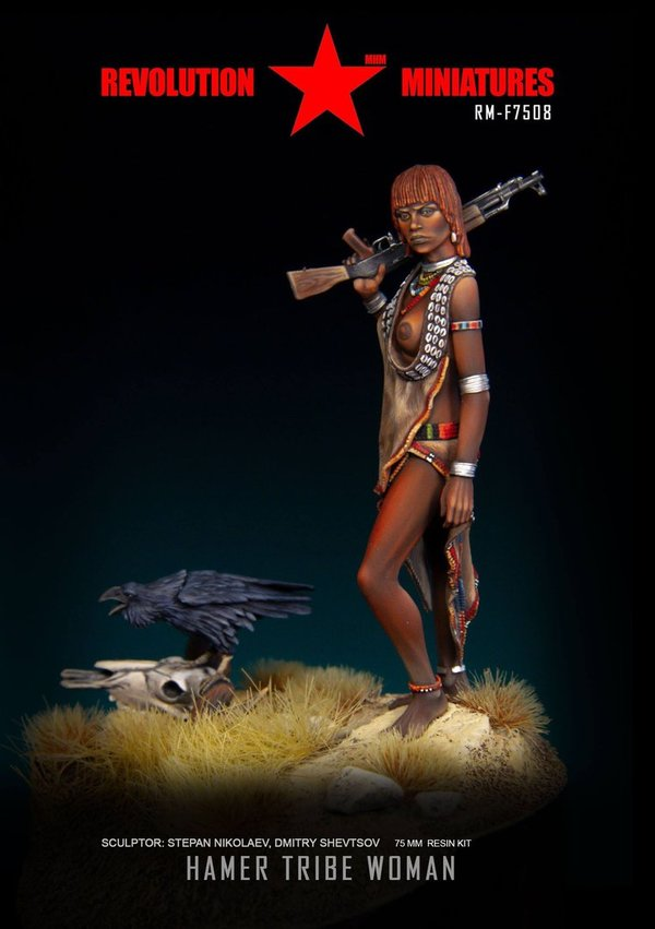 "Hamer tribe woman. ""Once upon a time in Africa"""