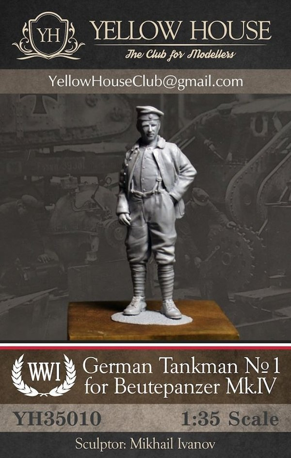 WWI German Tankman for Beutepanzer Mk.IV #1