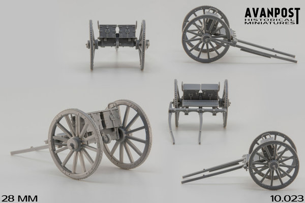British limber for block-trail carriage guns