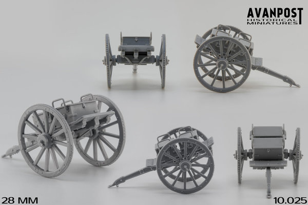 British Ammunition wagon for british guns of different types