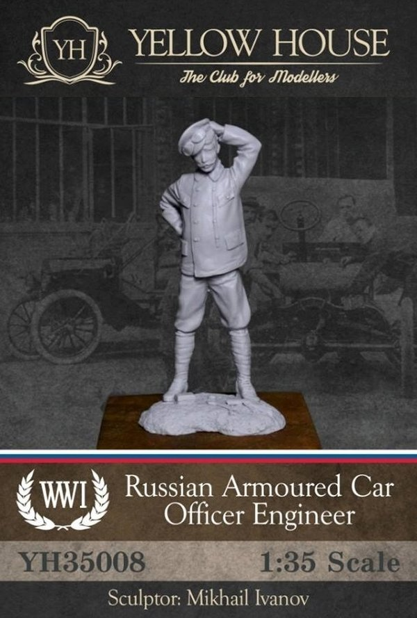 Russian Armoured Car Officer Engineer